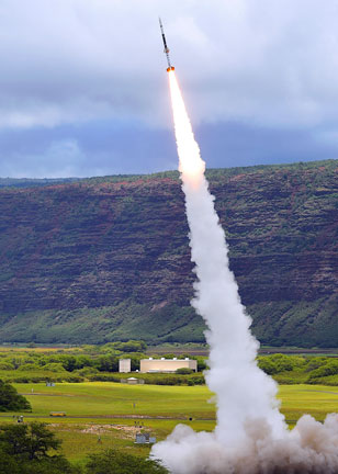 Sounding rocket launch at Kauai Test Facility