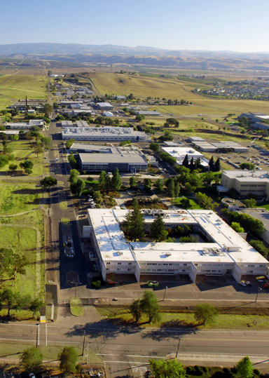 Aerial view of Sandia's California site
